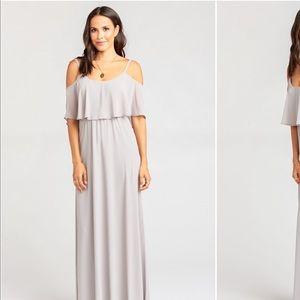 Bridesmaid dress show me your mumu dove gray